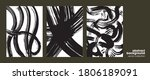 big collection of brush strokes ... | Shutterstock .eps vector #1806189091