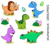 dino baby | Shutterstock .eps vector #180619001