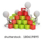 3d small people are building a... | Shutterstock . vector #180619895