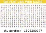 bundle vector flat line icons...