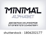 minimal alphabet font. abstract ...   Shutterstock .eps vector #1806202177