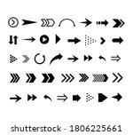 set of black arrows. collection ... | Shutterstock .eps vector #1806225661