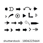 set of black arrows. collection ... | Shutterstock .eps vector #1806225664