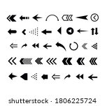 set of black arrows. collection ... | Shutterstock .eps vector #1806225724