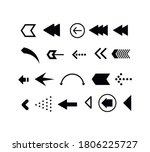 set of black arrows. collection ... | Shutterstock .eps vector #1806225727