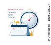 daylight saving time ends... | Shutterstock .eps vector #1806228124