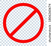 no sign isolated. red no symbol.... | Shutterstock .eps vector #1806260674