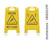 caution wet floor  | Shutterstock .eps vector #180632159
