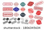 set of certified rubber stamp.... | Shutterstock .eps vector #1806345634