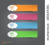 infographics banner  label  tag ... | Shutterstock .eps vector #180635381