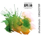 spot  watercolor abstract hand... | Shutterstock .eps vector #180635789