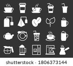 set of line icons of cups  tea  ... | Shutterstock .eps vector #1806373144