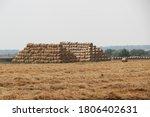 Harvest Fields  Straw Bales In...