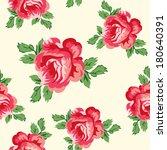 vintage vector roses seamless... | Shutterstock .eps vector #180640391