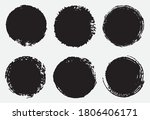 black grunge round frames ...   Shutterstock .eps vector #1806406171