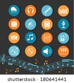 music icons | Shutterstock .eps vector #180641441
