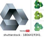 impossible geometry object... | Shutterstock .eps vector #1806419341