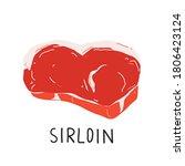 Sirloin Steak  Uncooked Meat ...