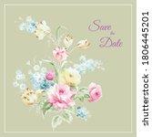 beautiful watercolor flower...   Shutterstock . vector #1806445201