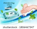desinfecting wet wipes ad... | Shutterstock .eps vector #1806467347