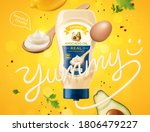 real mayonnaise ad with dynamic ... | Shutterstock .eps vector #1806479227