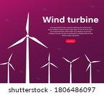 offshore wind farm infographics ... | Shutterstock .eps vector #1806486097