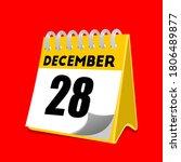 december 28 calendar icon... | Shutterstock .eps vector #1806489877