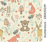 children seamless pattern with... | Shutterstock .eps vector #180650249