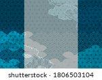 japanese pattern new year's...   Shutterstock .eps vector #1806503104