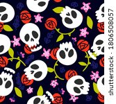 day of the dead sugar skull... | Shutterstock .eps vector #1806508057