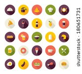 set of flat design icons for... | Shutterstock .eps vector #180651731