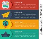 flat business infographic... | Shutterstock .eps vector #180652187