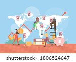 franchise store signs on world... | Shutterstock .eps vector #1806524647