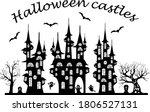 set of spooky halloween cartoon ...   Shutterstock .eps vector #1806527131