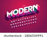 vector of stylized modern font...   Shutterstock .eps vector #1806534991