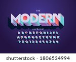 vector of stylized modern font... | Shutterstock .eps vector #1806534994