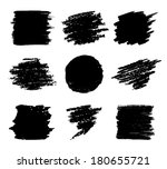 set of hand drawn grunge... | Shutterstock . vector #180655721