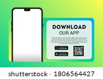 download page of the mobile app ... | Shutterstock .eps vector #1806564427