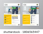 construction tools cover  back... | Shutterstock .eps vector #1806565447