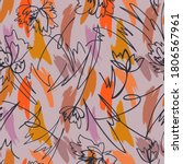simple geometric brush strokes... | Shutterstock .eps vector #1806567961