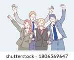 group of business people to... | Shutterstock .eps vector #1806569647