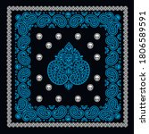 bandana pattern with skull and ... | Shutterstock .eps vector #1806589591