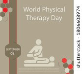 world physical therapy day is... | Shutterstock .eps vector #1806608974