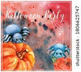 Halloween Party. Orange...