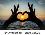 Heart Shape Hand Silhouette...