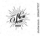 happy 2021 new year. holiday... | Shutterstock .eps vector #1806697957