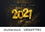 happy new 2021 year. holiday... | Shutterstock .eps vector #1806697981