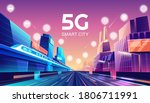 5g wireless network and smart... | Shutterstock .eps vector #1806711991