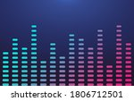 colorful gradient equalizer on... | Shutterstock .eps vector #1806712501