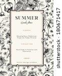 summer vertical vector vintage... | Shutterstock .eps vector #180671417